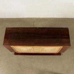 Bar Cabinet Rosewood Parchment Mirror Italy 1940s - 2145085