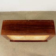 Bar Cabinet Rosewood Parchment Mirror Italy 1940s - 2145086