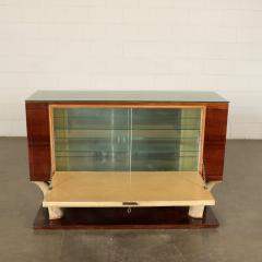 Bar Cabinet Rosewood Parchment Mirror Italy 1940s - 2145088