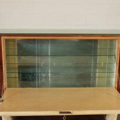 Bar Cabinet Rosewood Parchment Mirror Italy 1940s - 2145089