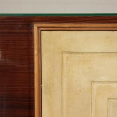 Bar Cabinet Rosewood Parchment Mirror Italy 1940s - 2145090