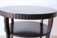 Barbara Barry Signed French Moderne Style Barbara Barry French Polished Mahogany Center Table - 960968