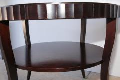 Barbara Barry Signed French Moderne Style Barbara Barry French Polished Mahogany Center Table - 960970