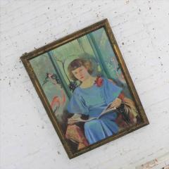 Barbara Hunter Watt Large signed oil portrait titled betsy by barbara hunter watt 1936 - 1706273