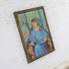 Barbara Hunter Watt Large signed oil portrait titled betsy by barbara hunter watt 1936 - 1706278