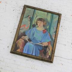 Barbara Hunter Watt Large signed oil portrait titled betsy by barbara hunter watt 1936 - 1706284
