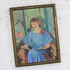 Barbara Hunter Watt Large signed oil portrait titled betsy by barbara hunter watt 1936 - 1706295