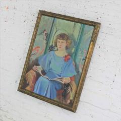 Barbara Hunter Watt Large signed oil portrait titled betsy by barbara hunter watt 1936 - 1706328
