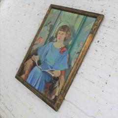 Barbara Hunter Watt Large signed oil portrait titled betsy by barbara hunter watt 1936 - 1706334