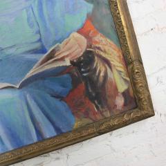 Barbara Hunter Watt Large signed oil portrait titled betsy by barbara hunter watt 1936 - 1706344