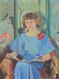 Barbara Hunter Watt Large signed oil portrait titled betsy by barbara hunter watt 1936 - 1706747