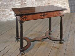 Baroque 17th Century Italian or Maltese Marquetry Center table or Desk - 1300952