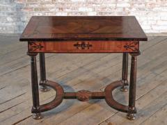 Baroque 17th Century Italian or Maltese Marquetry Center table or Desk - 1300953