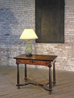 Baroque 17th Century Italian or Maltese Marquetry Center table or Desk - 1300954