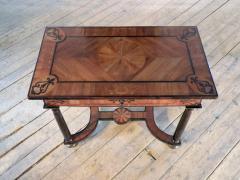 Baroque 17th Century Italian or Maltese Marquetry Center table or Desk - 1300956