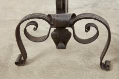 Baroque Bronze and Wrought Iron Andirons - 1999044