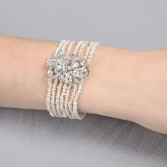 Baroque Cultured Pearl and Diamond Bracelet - 2088551