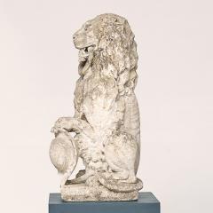 Baroque Limestone Lion from Solg rden circa 1700s - 910433