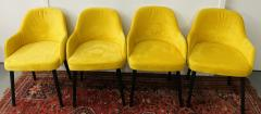 Barrel Back Armchair or Side Chair Mid Century Modern Style a Set of 4 - 1597121