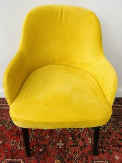 Barrel Back Armchair or Side Chair Mid Century Modern Style a Set of 4 - 1597124