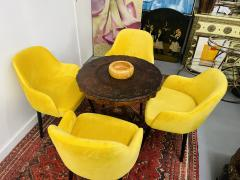 Barrel Back Armchair or Side Chair Mid Century Modern Style a Set of 4 - 1597125