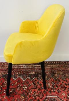 Barrel Back Armchair or Side Chair Mid Century Modern Style a Set of 4 - 1597126