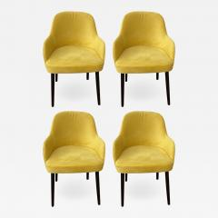 Barrel Back Armchair or Side Chair Mid Century Modern Style a Set of 4 - 1605248