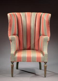 Barrel Back Wing Chair - 472046