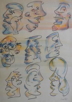 Barry Bleach Set of Nine Caricatures by Barry Bleach - 211408
