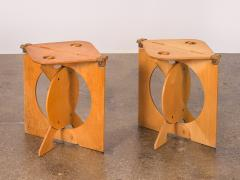 Barry Simpson Pair of Rooster Folding Stools by Barry Simpson - 812293