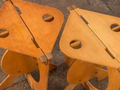 Barry Simpson Pair of Rooster Folding Stools by Barry Simpson - 812299