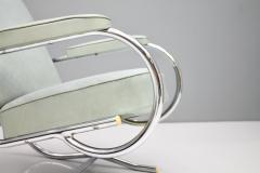 Batistin Spade Steel Tube Lounge Chair by Batistin Spade France 1930s - 1297690