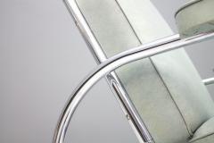 Batistin Spade Steel Tube Lounge Chair by Batistin Spade France 1930s - 1297691