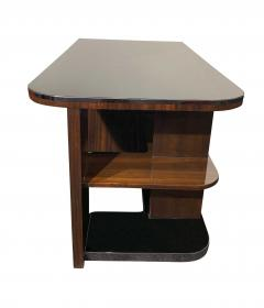 Bauhaus Desk with Open Backside Macassar and Black Lacquer Germany circa 1930 - 1277321