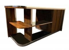 Bauhaus Desk with Open Backside Macassar and Black Lacquer Germany circa 1930 - 1277325