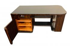 Bauhaus Desk with Open Backside Macassar and Black Lacquer Germany circa 1930 - 1277326