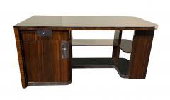 Bauhaus Desk with Open Backside Macassar and Black Lacquer Germany circa 1930 - 1277334