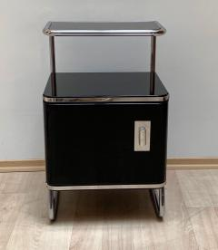 Bauhaus Nightstand Side Table Steeltube and Black Lacquer Germany circa 1930 - 1119788