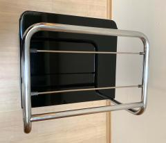 Bauhaus Nightstand Side Table Steeltube and Black Lacquer Germany circa 1930 - 1119795
