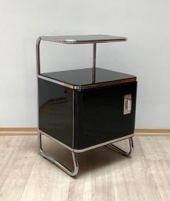 Bauhaus Nightstand Side Table Steeltube and Black Lacquer Germany circa 1930 - 1119797