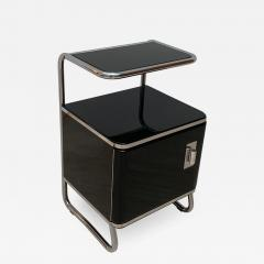 Bauhaus Nightstand Side Table Steeltube and Black Lacquer Germany circa 1930 - 1120105