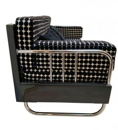 Bauhaus Sofa Chromed Steeltubes and Black Lacquered Wood Germany circa 1930s - 1488091