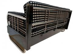 Bauhaus Sofa Chromed Steeltubes and Black Lacquered Wood Germany circa 1930s - 1488096
