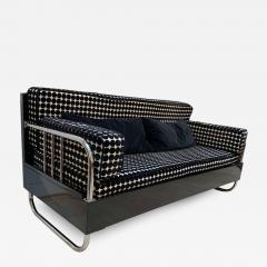 Bauhaus Sofa Chromed Steeltubes and Black Lacquered Wood Germany circa 1930s - 1515063