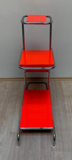 Bauhaus Steeltube Etagere Luminous Red and Chrome - 1119762