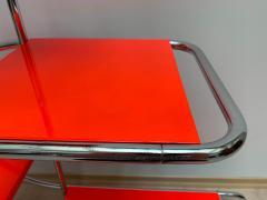Bauhaus Steeltube Etagere Luminous Red and Chrome - 1119763