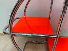 Bauhaus Steeltube Etagere Luminous Red and Chrome - 1119764