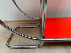 Bauhaus Steeltube Etagere Luminous Red and Chrome - 1119765
