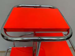 Bauhaus Steeltube Etagere Luminous Red and Chrome - 1119767