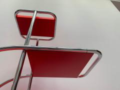 Bauhaus Steeltube Etagere Luminous Red and Chrome - 1119768